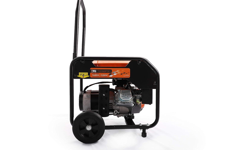 Etq TG32P31 3600W Portable Generator, Home Generator TG32P31DF 3600W Dual Fuel Generator – Use Gas or LPG Propane