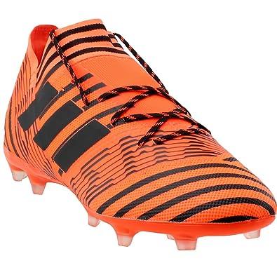 adidas Men s Nemeziz 17.2 FG Soccer Shoe Orange Black Solar Red b4378e706