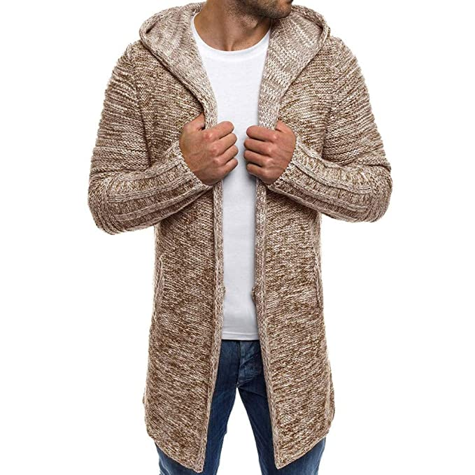 MEIbax Cárdigan Hombre Suéter Chaqueta de Punto Knitwear ...
