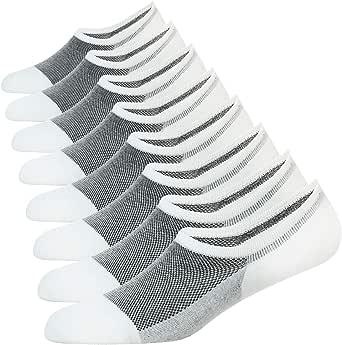 WANDER No Show Socks 7 Pairs Natural Cotton Non Slip Low Cut Sock Size 6-12-Men&Women