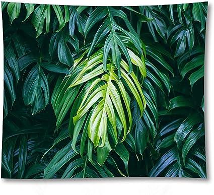 Chenhan Tapiz Planta Verde Impreso Yoga Estera de la Pared ...