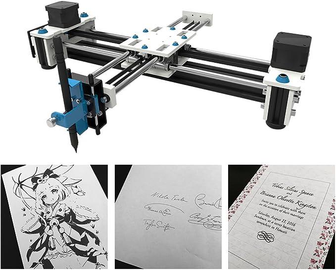 KKmoon Desktop USB DIY XY pequeño Plotter bolígrafo de dibujo Robot, 100 – 240 V Multifunción máquina de dibujo: Amazon.es: Bricolaje y herramientas