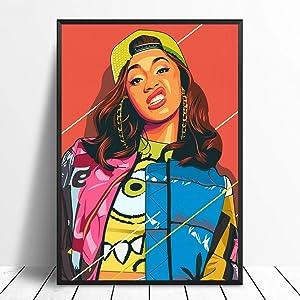 Cardi B Watercolor Print, Cardi B Poster, Cardi B Art Print, Cardi B Wall Print, Cadri B Wall Art, Cardi B Painting, Cardi B Wall Decor