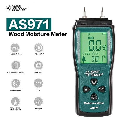 AS971 LCD Digital Holzfeuchtigkeit Tester Holz Feuchtigkeit Messgerät 0~40℃