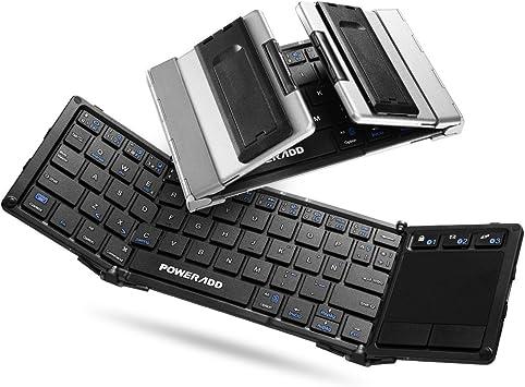 POWERADD Teclado Inalámbrico con Multi-touchpad de Español ...