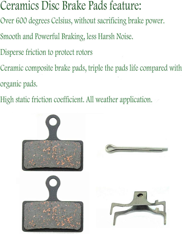 Ceramic Bike Brake Pads for Shimano Deore XT Br-M8000 M785 XTR M9000 SLX M7000 M675 2 Pairs