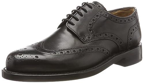 J.Briggs Zapatos de Cordones de Piel Para Hombre Negro Negro, Color Negro, Talla 46