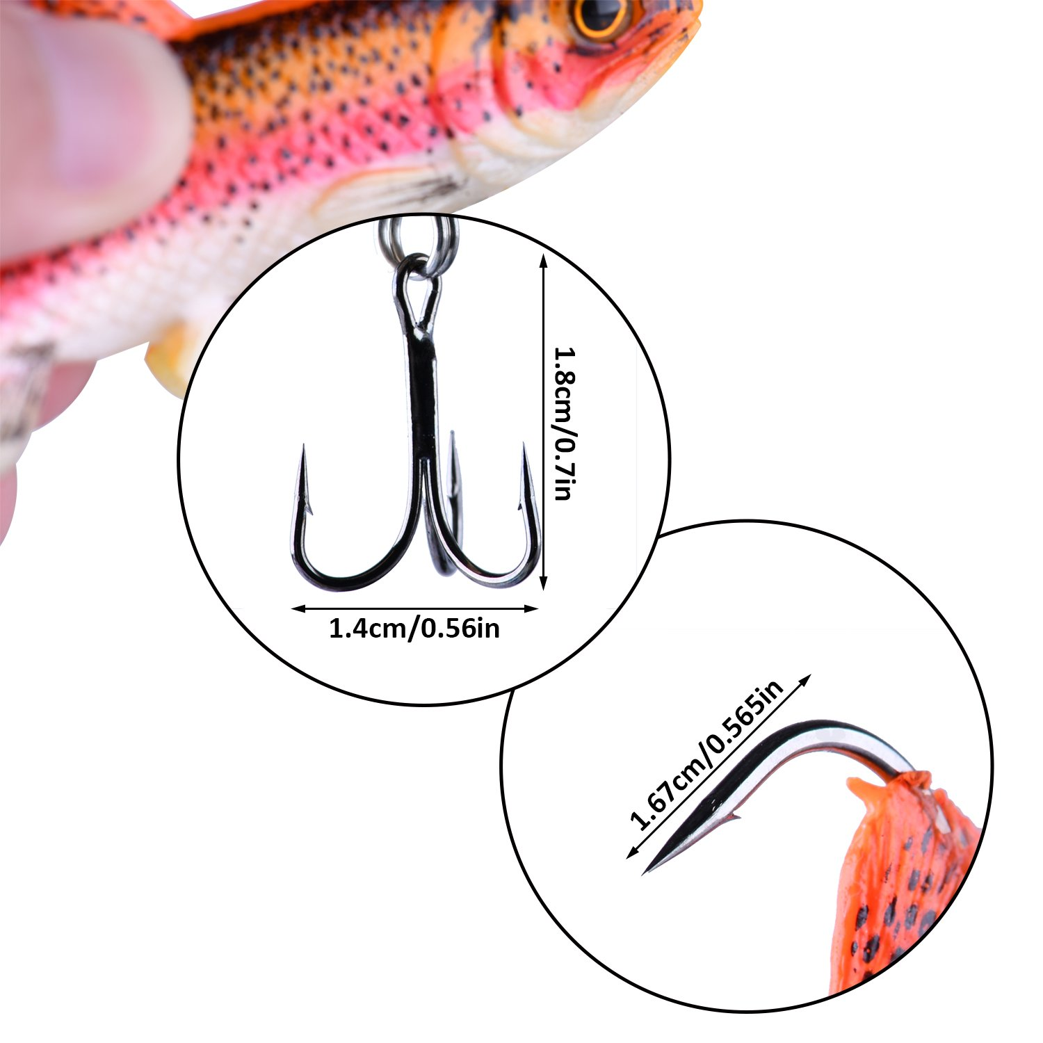 Goture Agiler Lead Jigs Soft Fishing Lures with Hook Sinking Swimbaits for Saltwater and Freshwater 5 Colors Available (Pack of 5)