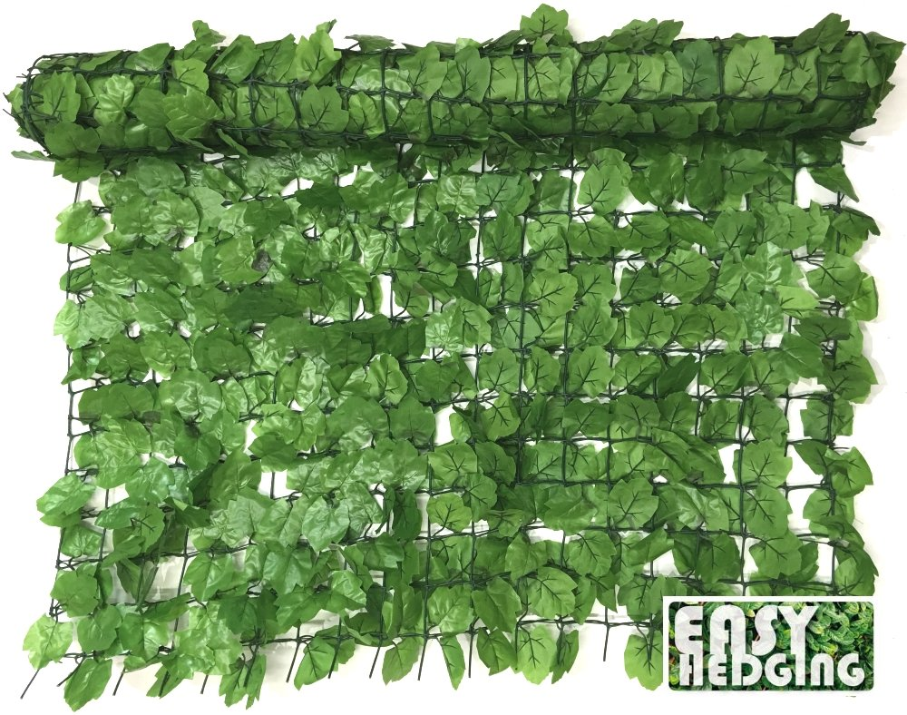 EasyHedging® 3m x 1m Instant Artificial English Ivy Screening Fencing Roll Hedging, Transforms Unsightly Areas & Create Privacy In Minutes (Light Green)