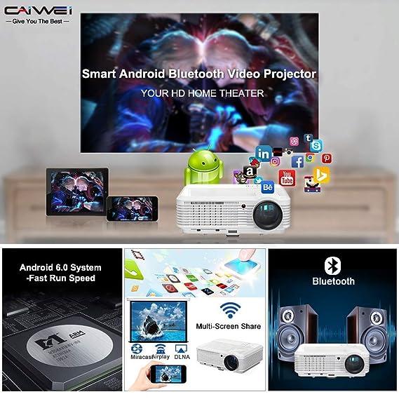 Video inalámbrico WiFi Proyector Bluetooth 3900 lúmenes 1080 P LCD ...