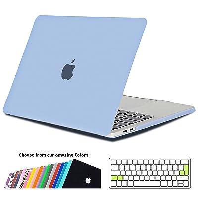 """Coque Macbook Pro 15 Pouce 2017, iNeseon Ultra Slim Protection Caseavec EU Transparent Couvercle du Clavier Housse pour Apple MacBook Pro 15"""" avec Touch Bar Modèle:A1707(Serenity Blue)"""