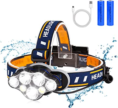 Super Bright Headlamp LED Head Torch Headlight USB Charging Lamp Camping Fishing