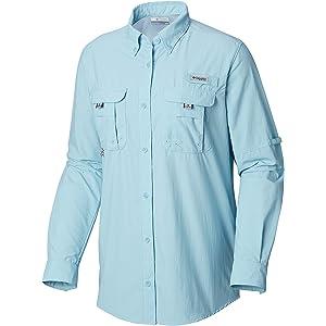b4c8ad080e3 Columbia Women's PFG Bahama Ii Long Sleeve Shirt, Breathable with Uv  Protection