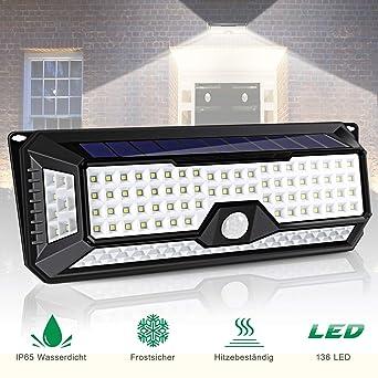 136 Led Solarlampe Für Außen Aliengt Solarleuchte Solarlicht Mit