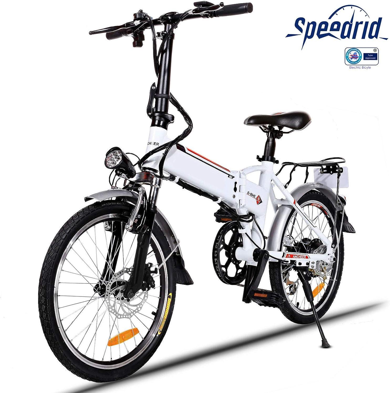 Speedrid Bicicleta eléctrica ebike electrica 26/20 Ebike ebike montaña para Bicicleta con Motor sin escobillas 250 W Batería de Litio 36 V 8 Ah Shimano Velocidad 21/7