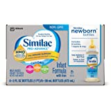 Similac Pro-Advance Infant Formula with 2'-FL HMO for Immune Support, Ready to Feed Newborn Bottles, 2 fl oz, 8 bottles (Pack of 6)