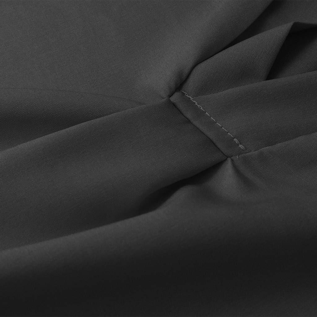 2019 Plus Size Women Fashion Summer V-Neck Tank Tops Short Sleeve Solid Casual Loose T-Shirt Blouses S-5XL Black (Black, XXL)