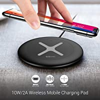 Portronics Toucharge X POR-896 10W/2A Wireless Mobile Charging Pad (Black)