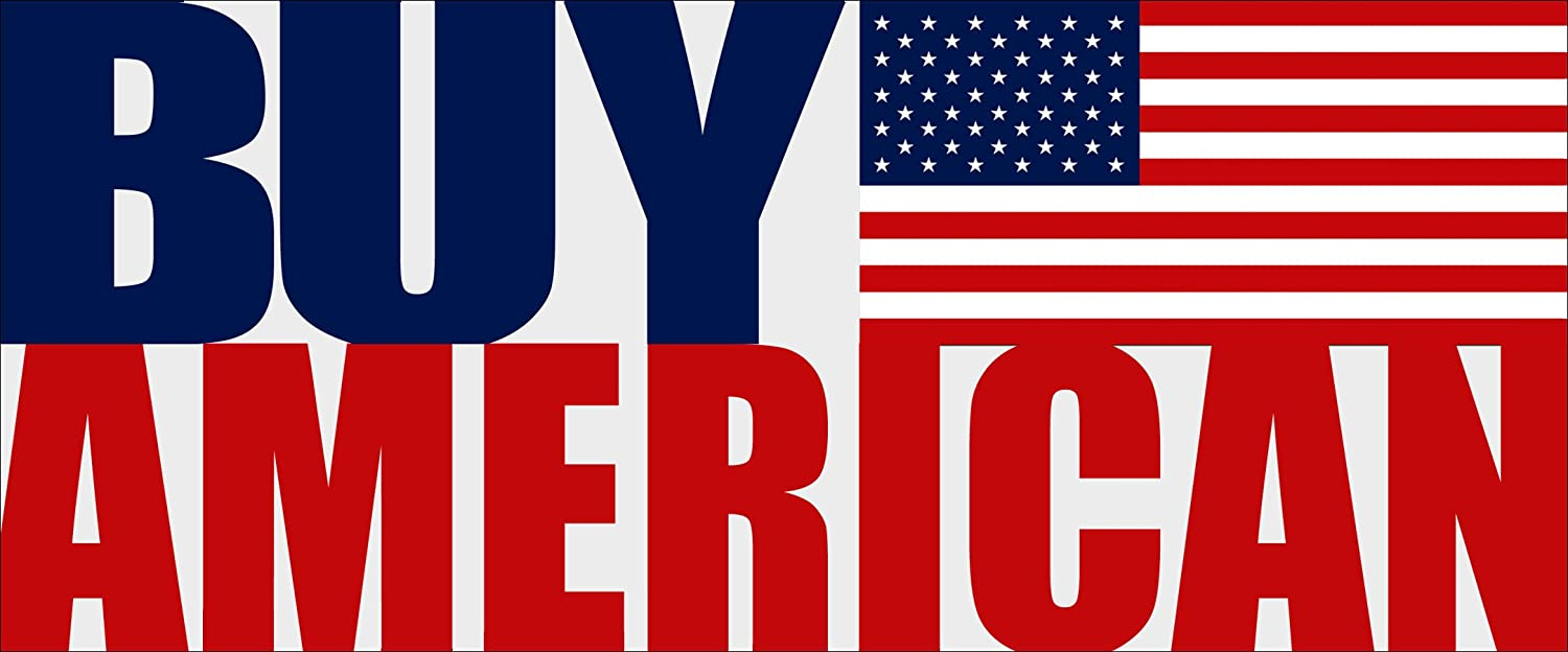 TRUMP BUY AMERICAN HIRE AMERICAN DECAL WINDOW BUMPER STICKER POLITICAL