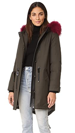9e01727dc077 ... order mackage womens rena d oversized twill down parka with removable trimmed  hood army 52f37 5d5d5