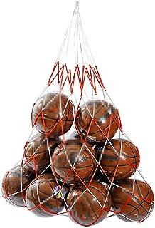 HNJZX nylon mesh rete per pallone da pallavolo pallacanestro Carry 10Ball Carry net bag 115cm