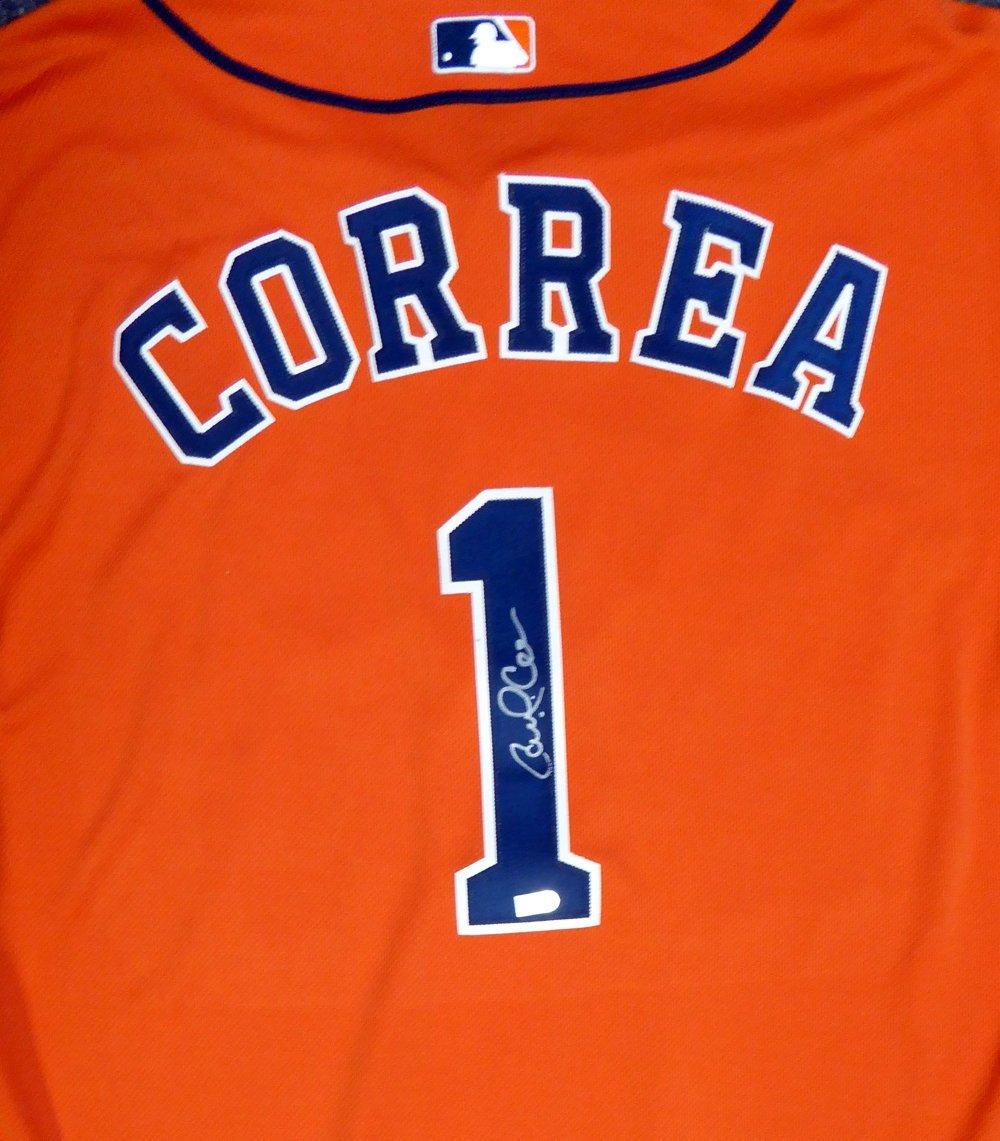 on sale 8f5a4 bbf61 Houston Astros Carlos Correa Autographed Authentic Majestic ...