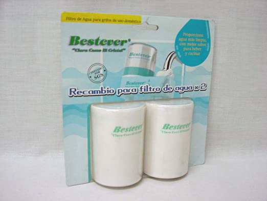 Bestever Juego 2 RECAMBIOS para Filtro PURIFICADOR DE Agua para ...