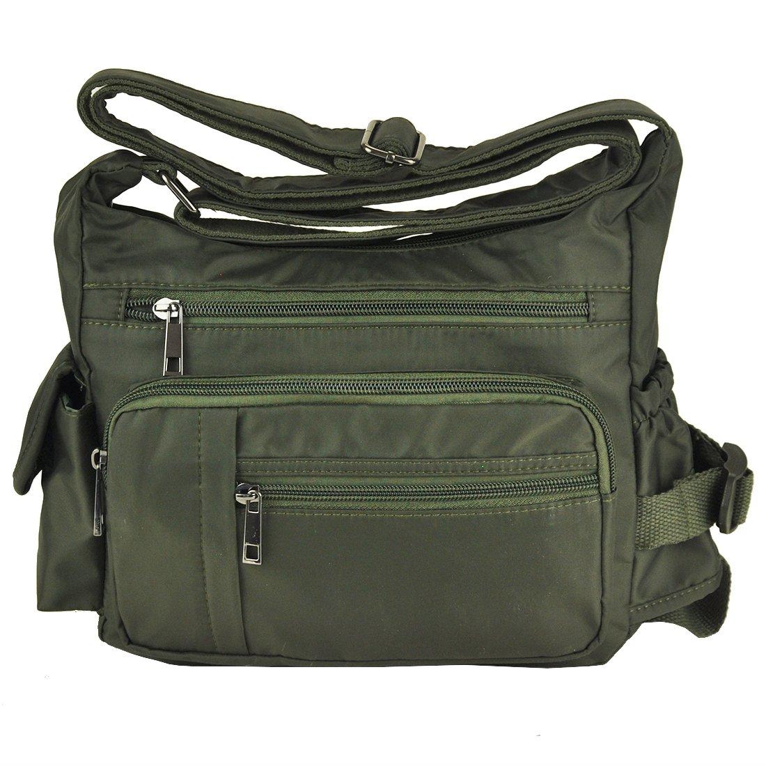 Pocketbooks for Women Lightweight Shoulder Bags Multi Pockets Volcanic Rock Nylon Waterproof Crossbody Handbag