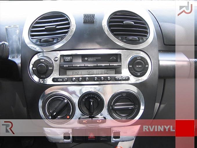 Silver Chrome Rdash Dash Kit Decal Trim for Volkswagen Beetle 2006-2010