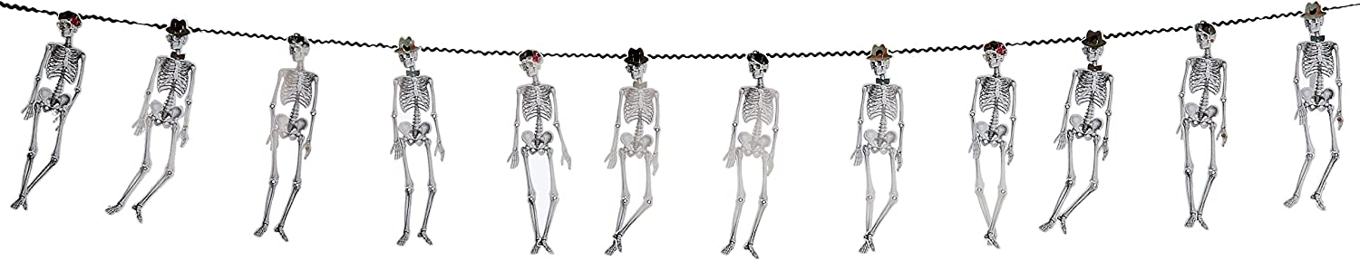 Talking Tables Skeleton Crew Garland for Halloween Party 3m