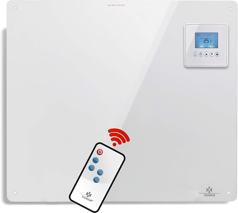 Inkl.Standf/ü/ßen NEU KESSER/® Infrarotheizung 425 Watt mit APP WiFi Funktionen ✓ LCD-Display Digital ✓ Timer ✓ Wandheizung ✓ Infrarot ✓ Heizung ✓ Heizk/örper Heizpaneel