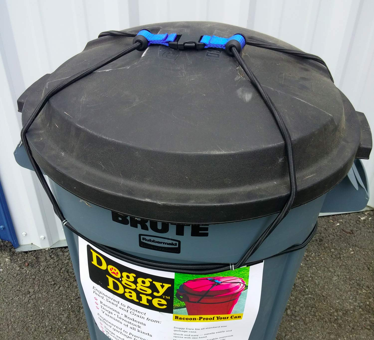 Doggy Dare Trash CAN Lock fits 33 Gallon Trash cans Lasso Security Cables