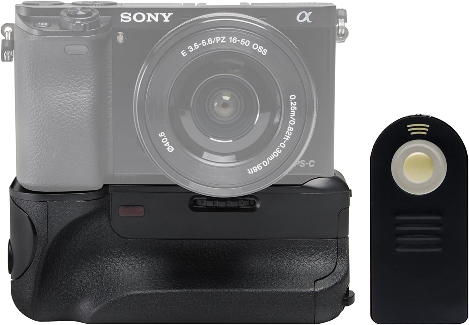 2 Batteries /& Charger Strap Kit Vivitar Deluxe Power Battery Grip for Sony Alpha A6000 /& A6400 Camera with Wireless Remote