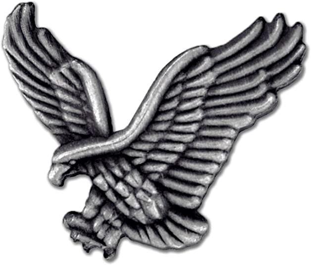 PinMart/'s God Bless America Antique Silver Eagle Patriotic Lapel Pin