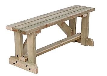 Terrific Mc Timber Products Ltd 4Ft Garden Bench Seat In Natural Wood Spiritservingveterans Wood Chair Design Ideas Spiritservingveteransorg