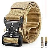 Cinturón Táctico, TOSKOU Estilo Militar Correa de Cintura de Nylon de Alta Resistencia Cinturón de Servicio Pesado con Hebill
