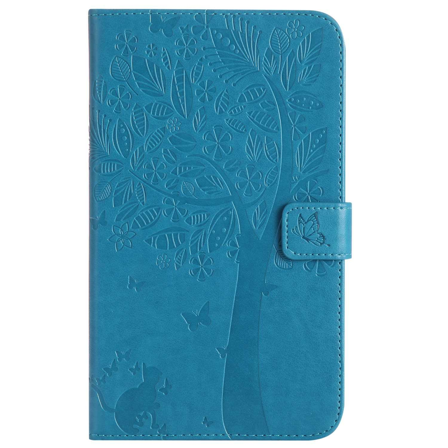 Bear Village Galaxy Tab a 7.0 Inch Case, Leather Magnetic Case, Fullbody Protective Cover with Stand Function for Samsung Galaxy Tab a 7.0 Inch, Blue by Bear Village