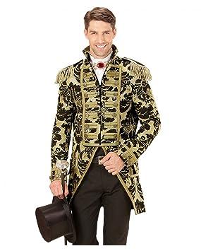 Horror-Shop Veneciana vestido de traje militar oro negro One Size