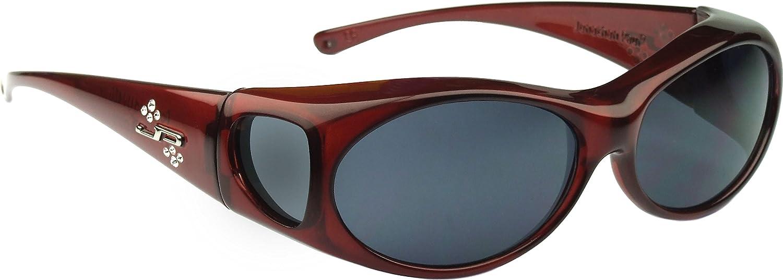 c0d391a71b Amazon.com  Jonathan Paul Fitover Sunglasses Aurora AR003S Claret Wine  Frame Gray Polarized  Clothing
