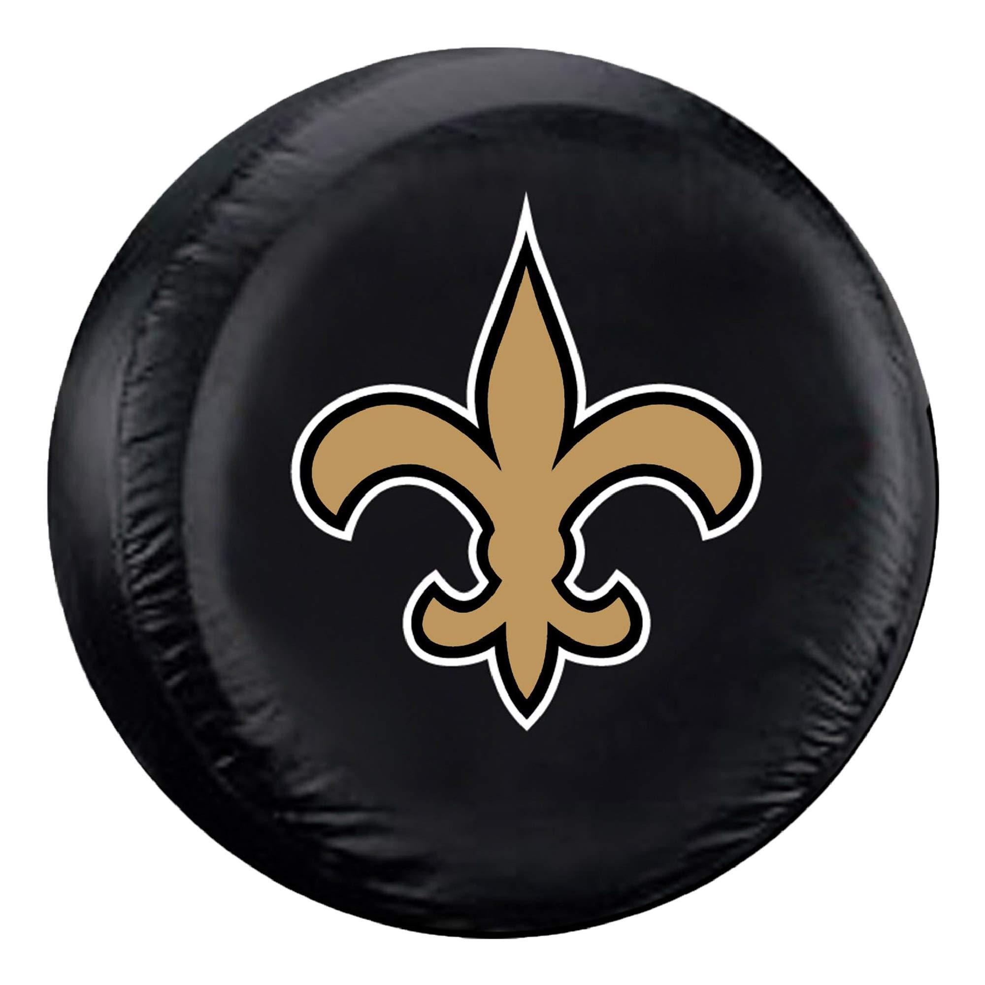 Fremont Die NFL New Orleans Saints Tire Cover, Large Size (30-32'' Diameter) by Fremont Die