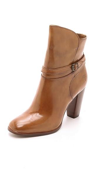Frye Women's Laurie Zip Short Booties, Camel, 5.5 B(M) US