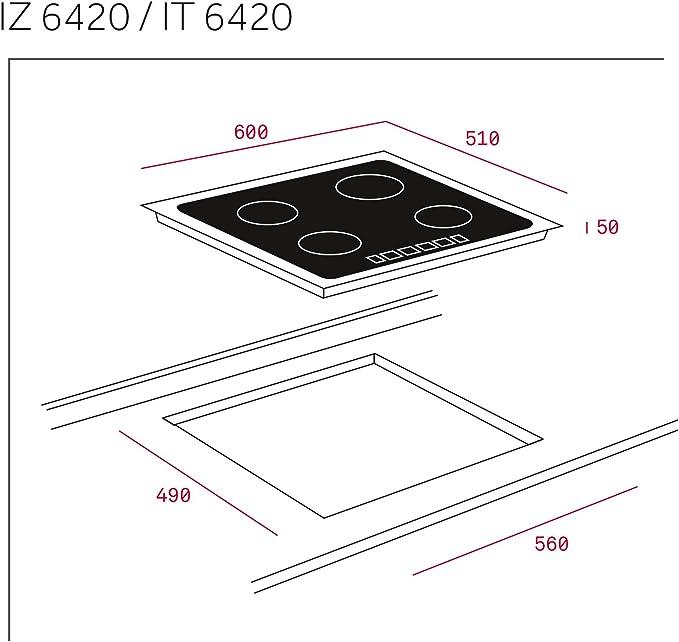 Teka IZ 6315 Integrado Induction vitrocerámica - Placa (Integrado ...
