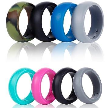 Banda de silicona para anillos de boda Syourself – Paquete de 4 anillos seguros, flexibles