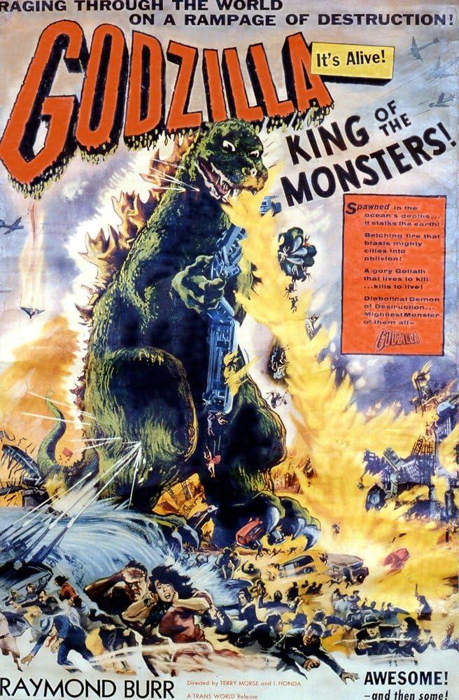 Posterazzi EVCMCDGODZEC057 Godzilla Movie Poster Masterprint, 11 x 17