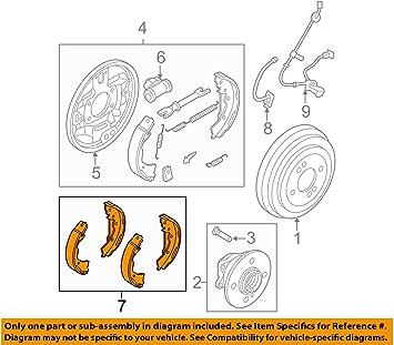 Amazon.com: Genuine Hyundai 58305-1GA00 Brake Shoe and Lining Kit, Rear:  Automotive   Hyundai Brakes Diagram      Amazon.com