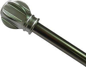 Elegant Home Fashions Shower Rod - Satin Nickel Hindon Rod