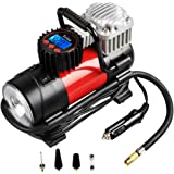 Portable Air Compressor Pump 150 PSI, Tcisa 12V 140W Auto Digital Car Tire Inflator Gauge