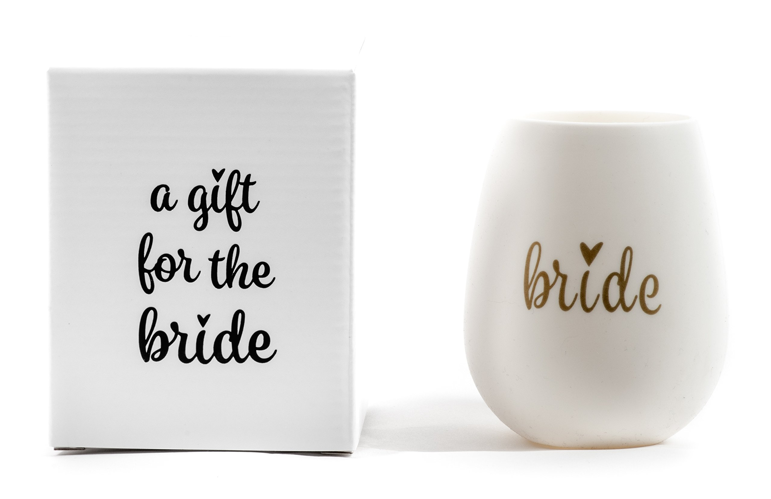 Bride Silicone Wine Cup with A Gift for the Bride Gift Box, a Perfect Gift for a Bride to Be!