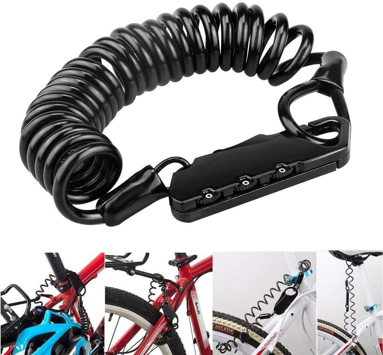 Cevikno ET-152 - Candado de Cable antirrobo para Bicicleta, 3 ...