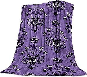 "Flannel Fleece Bedding Blanket - 40""x50"" Haunted Horror Mansion - Grim Grinning Ghosts Anime Camp Throw Blanket for Baby Kids Boy Girls Men Women"